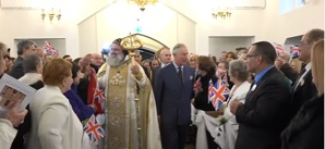 Prince Charles and Patriach of Antioch His Holiness Mor Ignatius Aphrem IIat the consecraion of St Thomas Cathedral