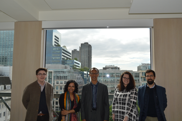 Fred D'Aguiar with the TIDE team at the London campus of the University of Liverpool