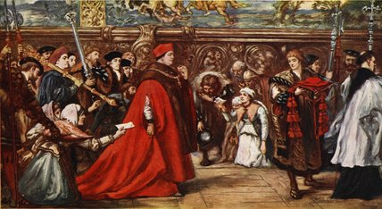 Cardinal Wolsey on his way to Westminster Hall