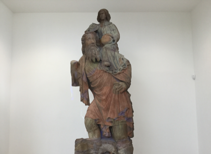 St Christopher, a medieval statue that survived the Reformation