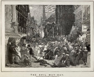 A Victorian artist's interpretation of the Evil May Day Riot, 1517