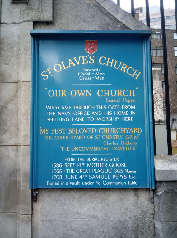 The parish church of St Olave's Hart Street